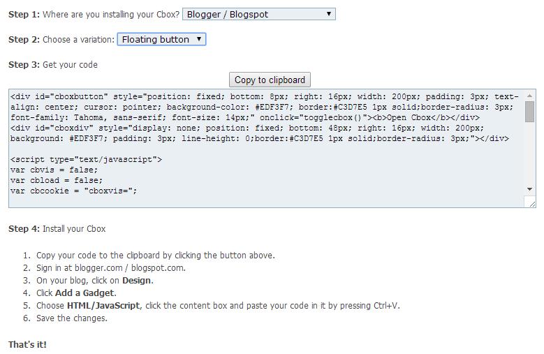 Cara Menambahkan Widget ChatBox Show / Hide Melayang di Blog