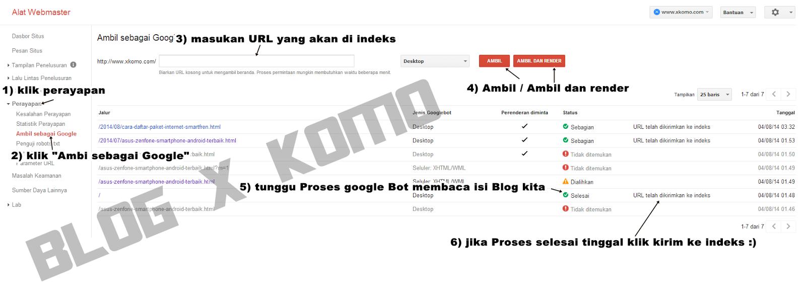 Cara Agar Artikel Blog Cepat Terindeks Ke Google dan Bisa Page One