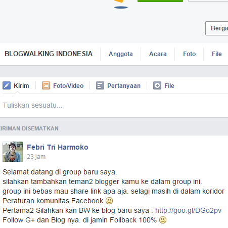 Group BlogWalking Indonesia - Join Now
