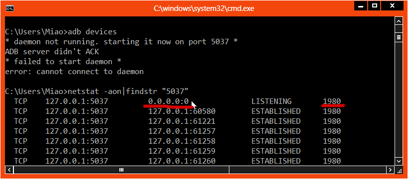 Cara Atasi ADB Server Bermasalah – Failed to Start Daemon