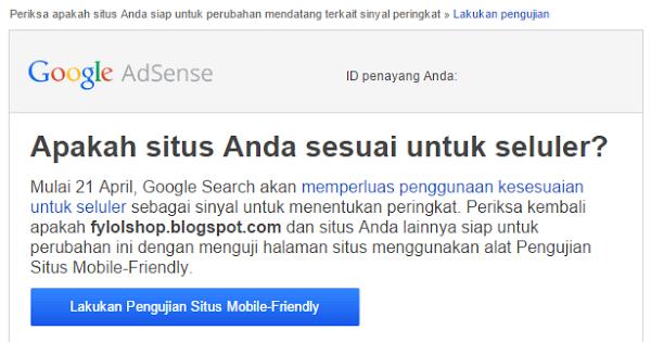 Fitur terbaru google Adsense untuk Blog Mobile friendly