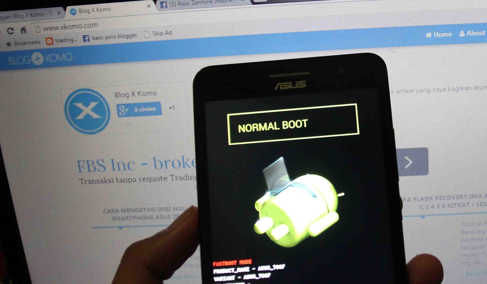 Tutorial Cara Masuk Ke Droidboot / Fastboot Mode Di ASUS