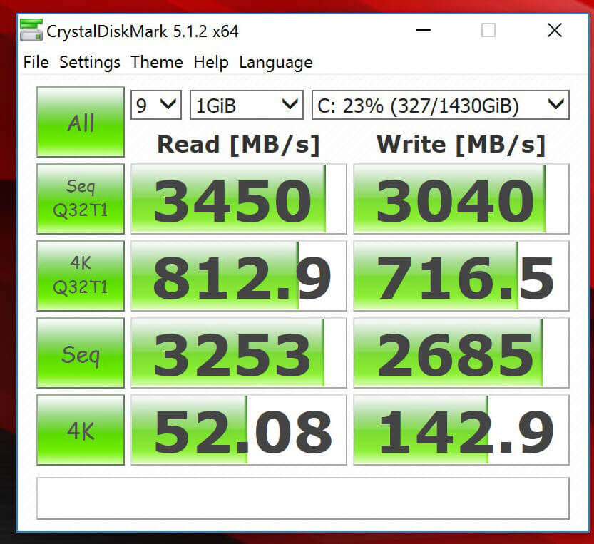Review ASUS ROG GX800 - Extreme Mode CrystalDiskMark Benchmark