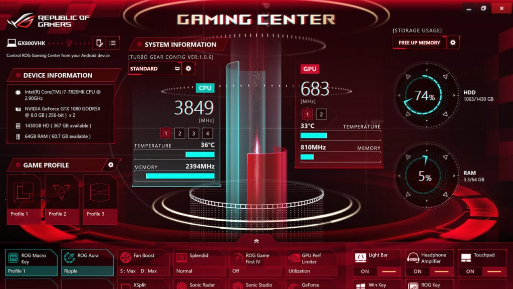 Review ASUS ROG GX800 - Game Center