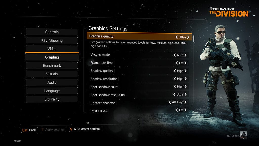 Review ASUS ROG GX800 - Game TheDivision Graphics Settings