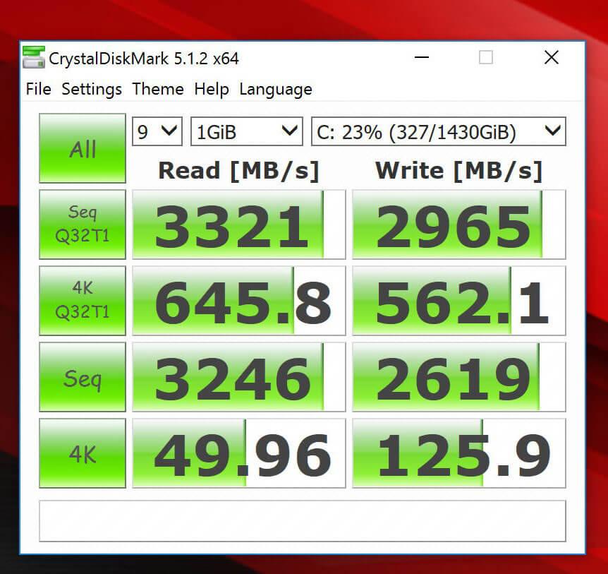 Review ASUS ROG GX800 - Standar Benchmark CrystalDiskMark