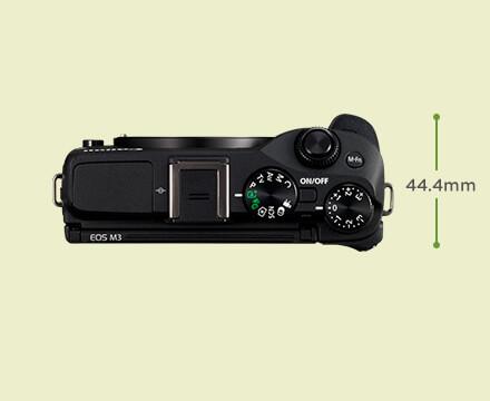 Unboxing dan Review Kamera EOS M3 Untuk Ngevlog - Desain Tampak Atas