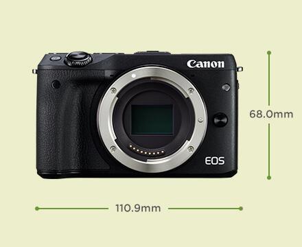 Unboxing dan Review Kamera EOS M3 Untuk Ngevlog - Desain Tampak Depan