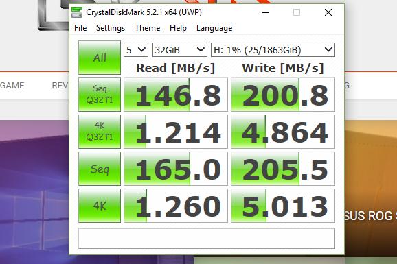 Crystal Benchmark 1GB - Seagate Firecuda 2TB