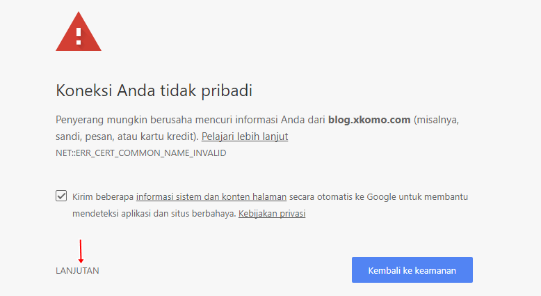 BLOG ERROR HABIS PINDAH HOSTING