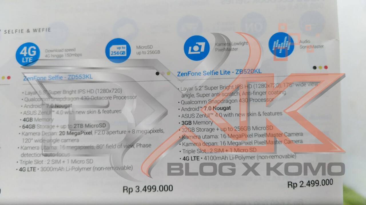 ASUS Resmi Hadirkan Zenfone Selfie Lite (ZB520KL) Di Indonesia