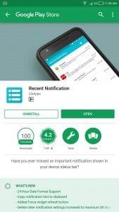 Recent Notification - Aplikasi Untuk Melihat Pesan Yang Dihapus Sebelum Dibaca