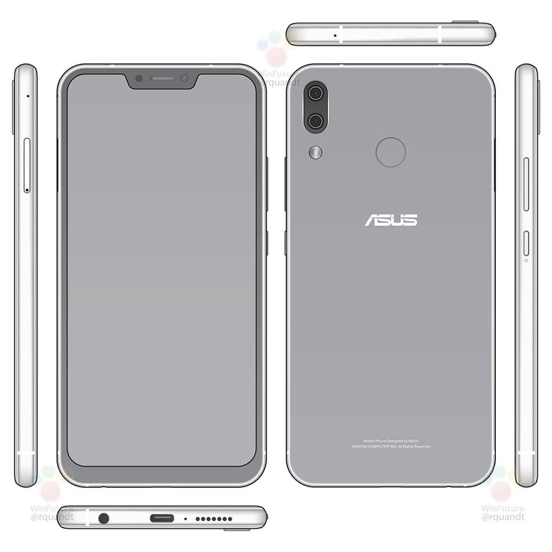 Penampakan Desain Zenfone 5 (ZE620KL) Mirip iPhone X