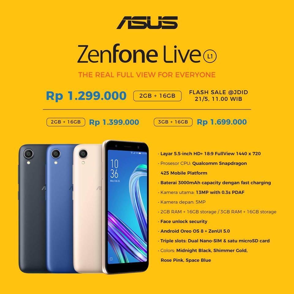 Post card - Harga dan Spesifikasi Zenfone Live L1