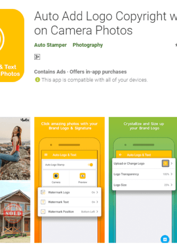 Cara Pasang Logo atau WaterMark Otomatis Pada Foto Smartphone - Apps