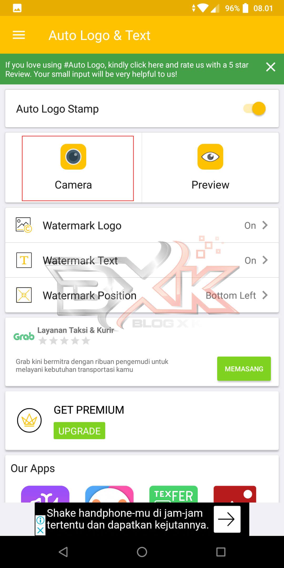 Cara Pasang Logo / WaterMark Otomatis Pada Foto Di Smartphone