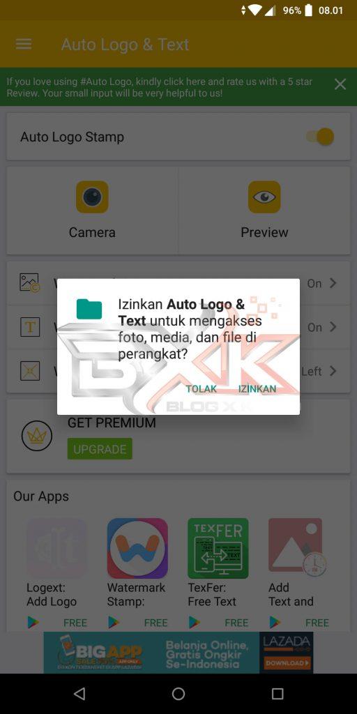 Cara Pasang Logo atau WaterMark Otomatis Pada Foto Smartphone - Step 2