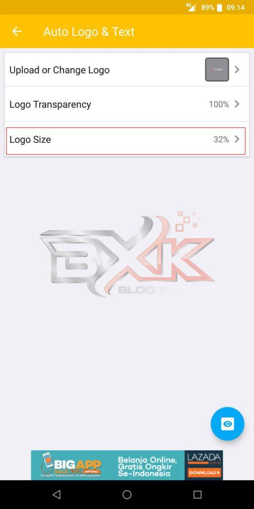 Cara Pasang Logo atau WaterMark Otomatis Pada Foto Smartphone - Step 6