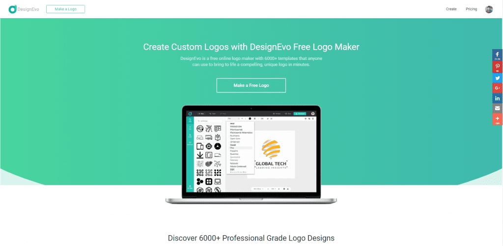 Review Designevo Gratis Membuat Logo Keren Dan Mudah - P2