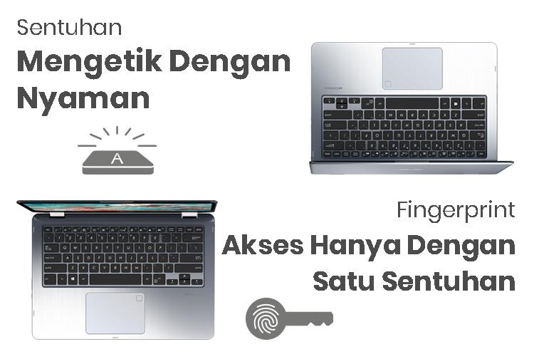 ASUS VIVOBOOK FLIP 14 TP410 - Keyboard & Fingerprint