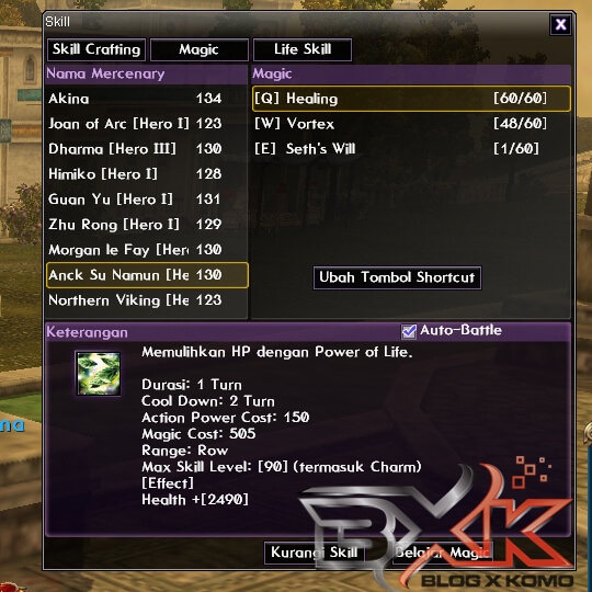Anck Su Namun - Healing Full Level 60