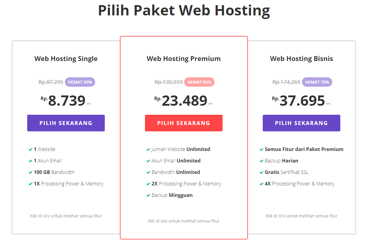 Paket Web Hosting Black Friday & Cyber Monday by Hostinger November 2018