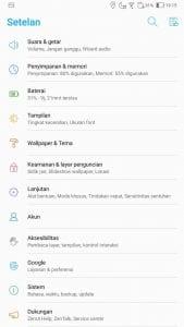 Cara Update FOTA Di Zenfone - Menu Pengaturan Pada ZenUI