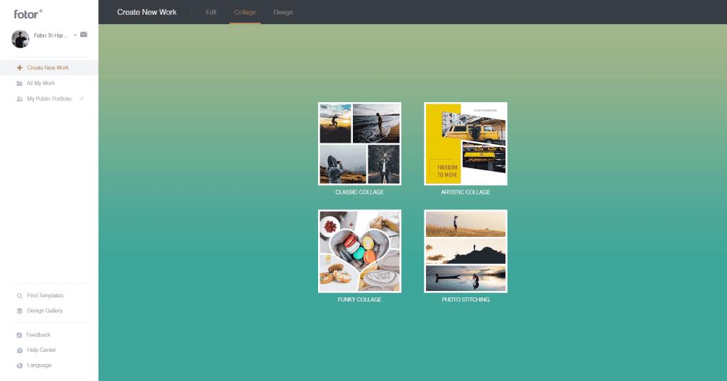 Review Fotor - Aplikasi Edit Foto Dan Desain Gratis - Collage