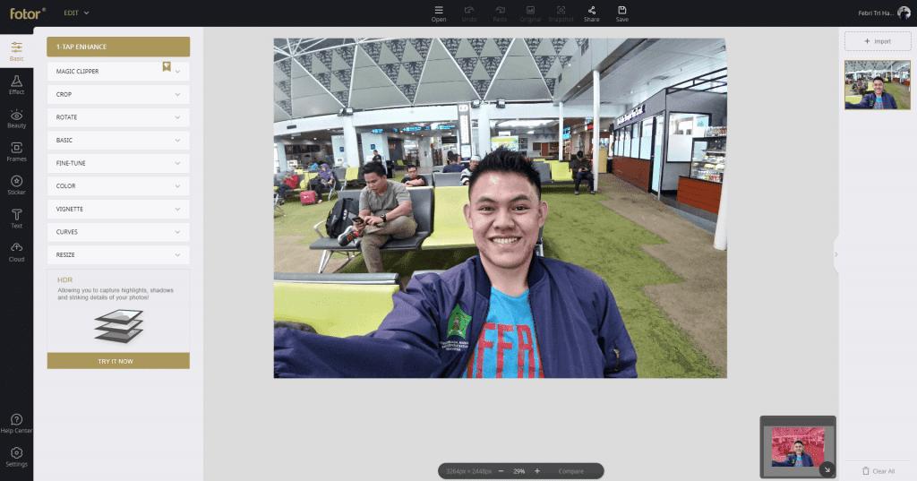Review Fotor - Aplikasi Edit Foto Dan Desain Gratis - Fitur Basic