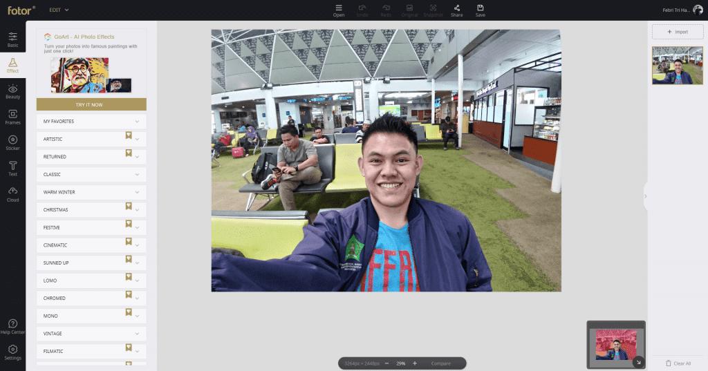 Review Fotor - Aplikasi Edit Foto Dan Desain Gratis - Fitur Efek Foto
