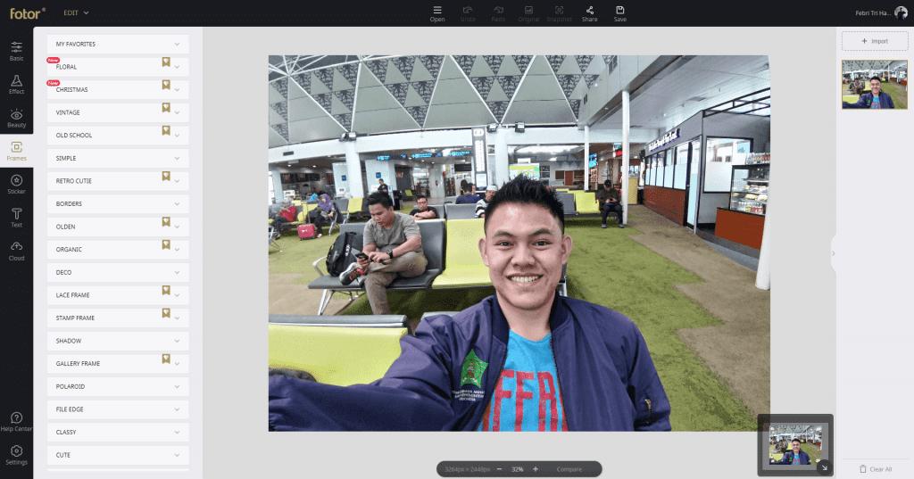 Review Fotor - Aplikasi Edit Foto Dan Desain Gratis - Fitur Frame