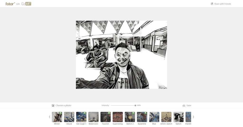Review Fotor - Aplikasi Edit Foto Dan Desain Gratis - Fotor GoArt