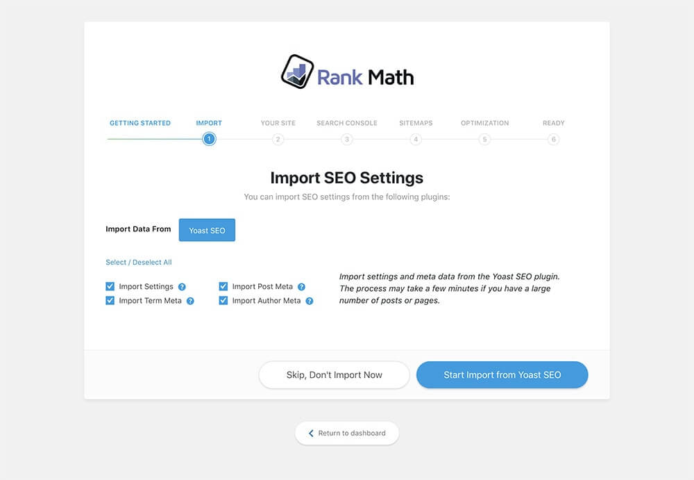 Review Rank Math SEO - Freemium Plugin - Import SEO Setting