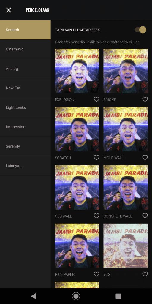 Review Aplikasi Fotor Untuk Edit Foto Di Smartphone - Pengelolaan Preset Foto