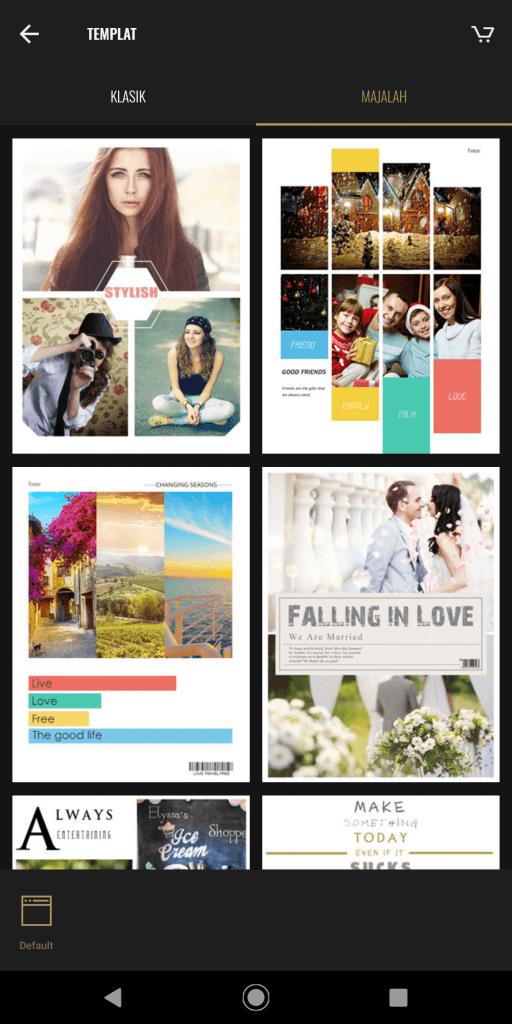 Review Aplikasi Fotor Untuk Edit Foto Di Smartphone - Template Kolase Foto