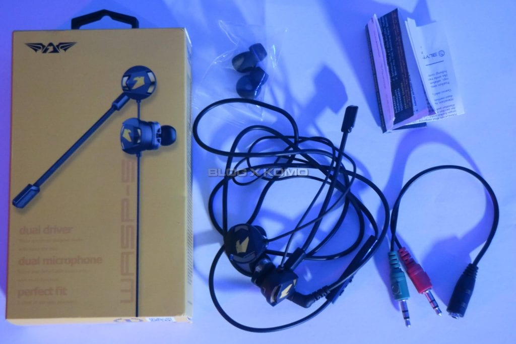 Unboxing Armaggeddon WASP 5 Gaming Earphone - Isi Paket Penjualan