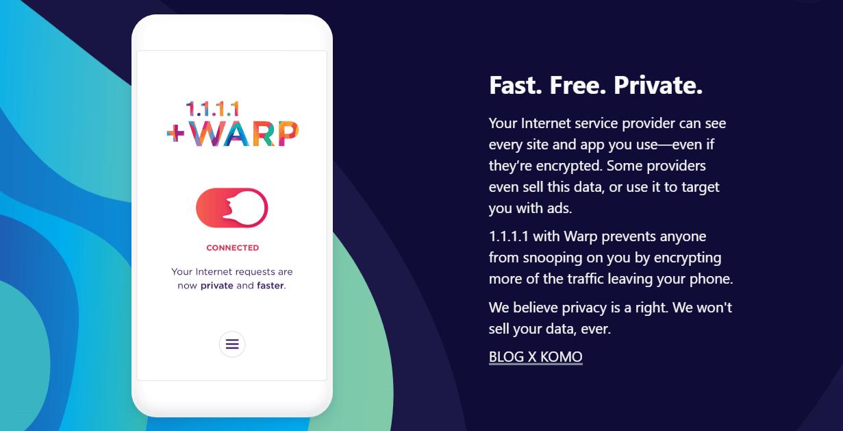 1.1.1.1: Faster Internet su App Store