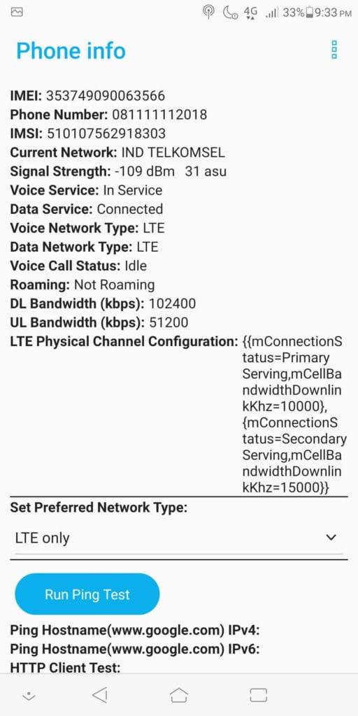 Cara Mengubah Jaringan 3G Ke 4G - LTE Only