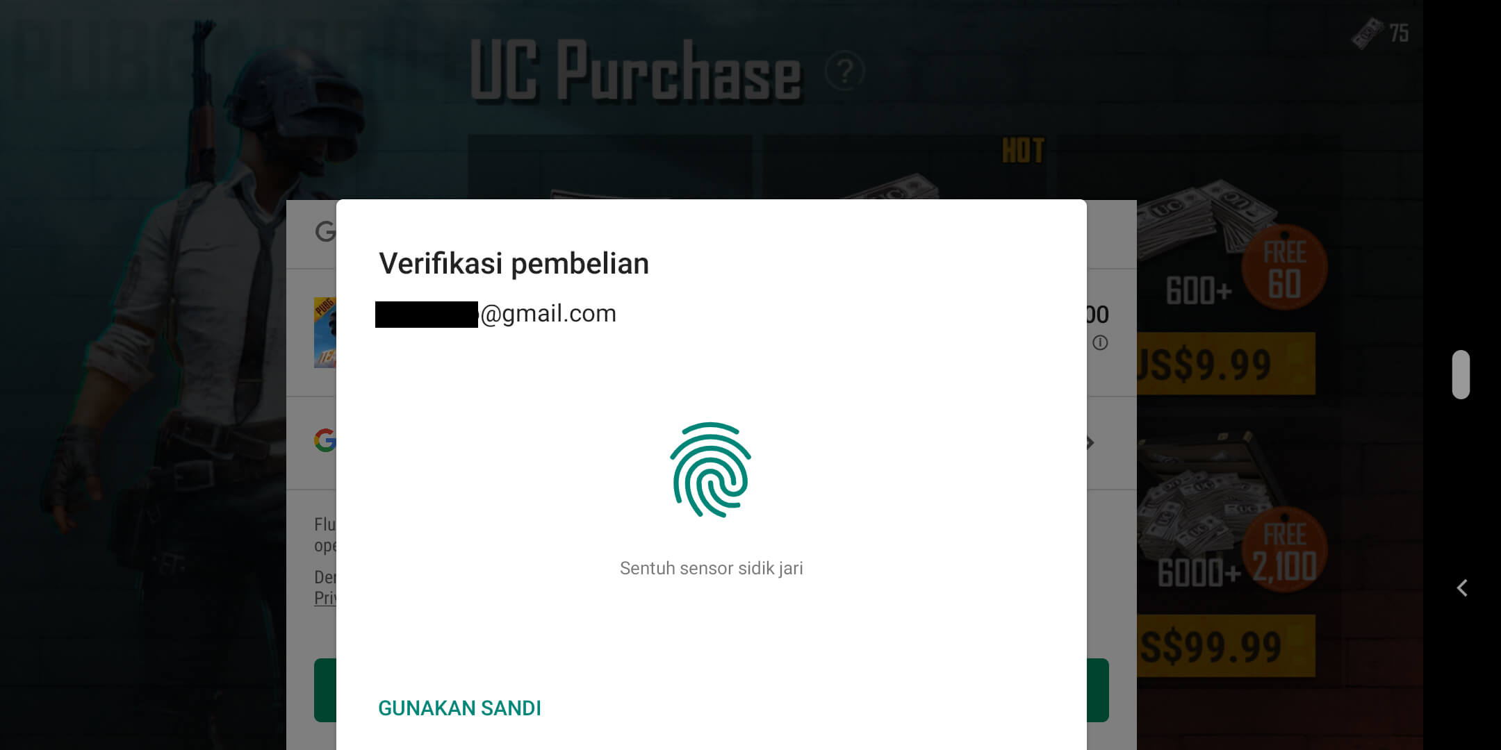Cara Top Up PUBG Mobile Via Pulsa - Konfirmasi Pembayaran UC Melalui Pulsa Telkomsel