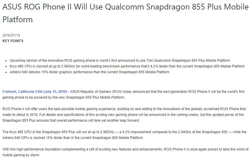 Bocor Penampakan Desain ROG Phone 2 Terbaru 2019 - Konfirmasi Spesifikasi ROG Phone II
