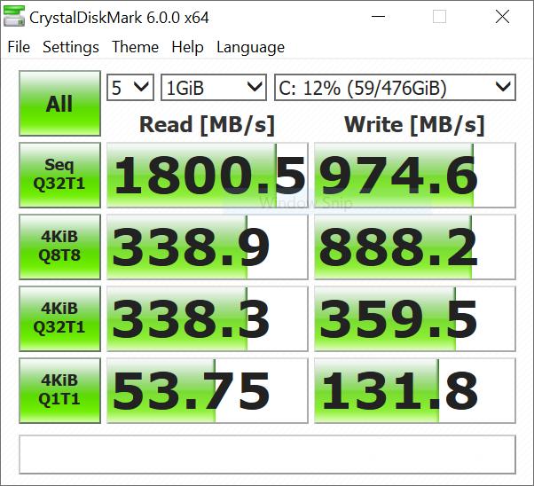 VivoBook Ultra A412 - Laptop Mungil yang Penuh Warna - BenchMark CrystalDiskMark 6