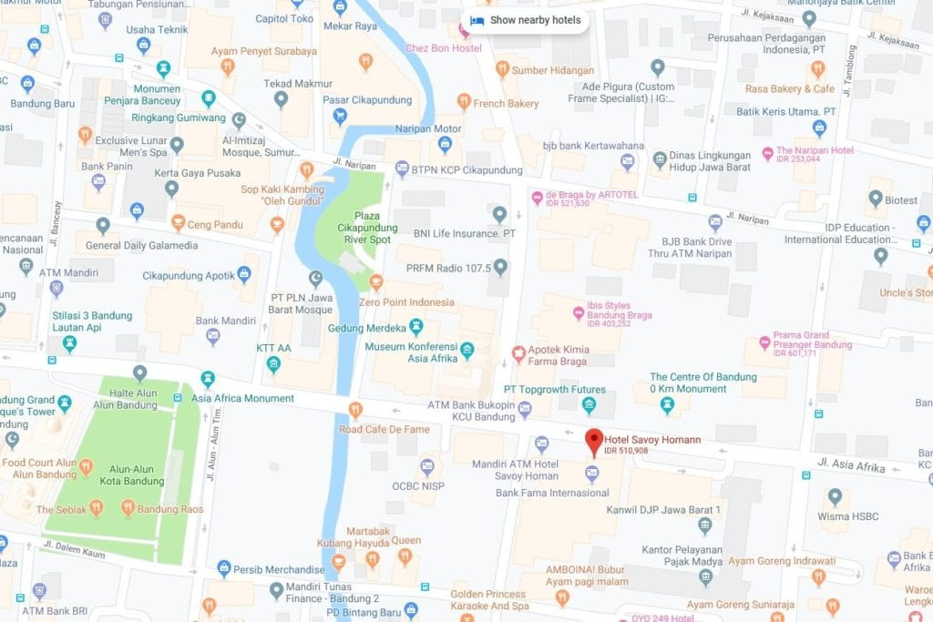 Menginap Semalam Di Hotel Heritage Savoy Homann Bandung - Google Map