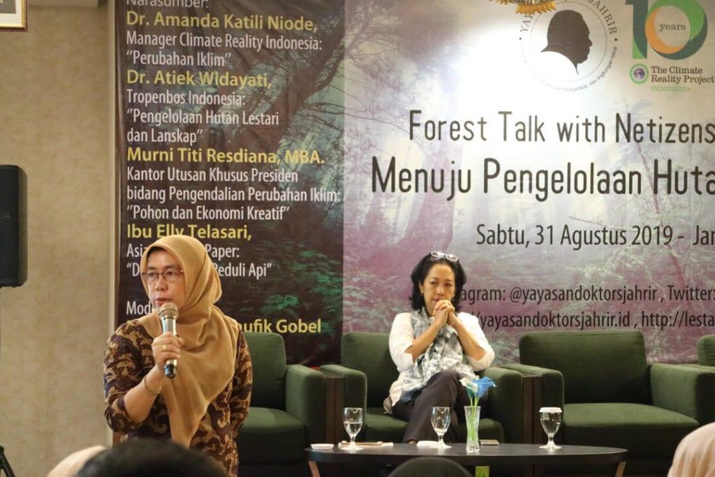 Forest Talk - Pentingnya Melestarikan Hutan - Ibu Elly Telasari