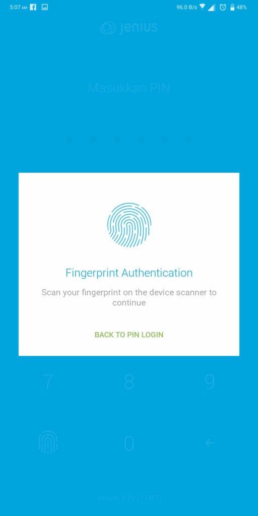 Hidup Terasa Lebih Mudah Setelah Pakai Jenius BTPN - Fingerprint di Aplikasi Jenius