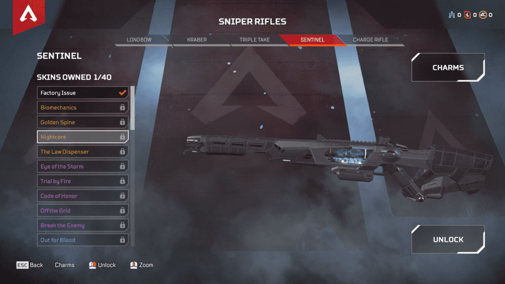 New Weapon Sentinel Sniper Riffle - Nightcore Skin