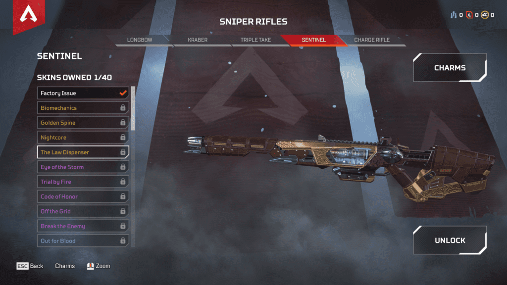 New Weapon Sentinel Sniper Riffle - The Law Dispenser Skin