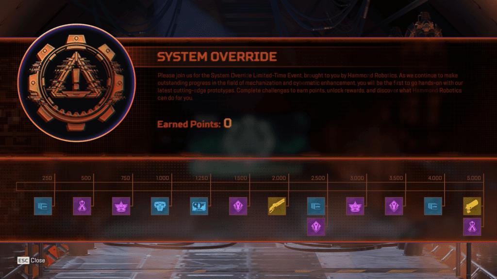 System Override Collection Event - Kumpulkan dan Menangkan