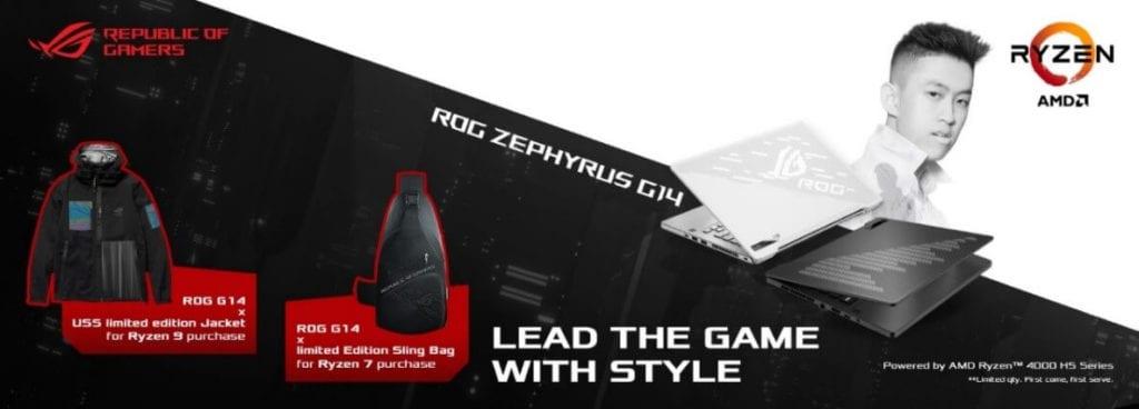 ASUS ROG Zephyrus G14 (GA401) - Urban Sneaker Society x ROG Limited Edition Tote Bag