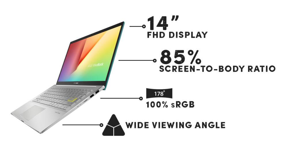 ASUS VivoBook S14 S433 - Ukuran Layar