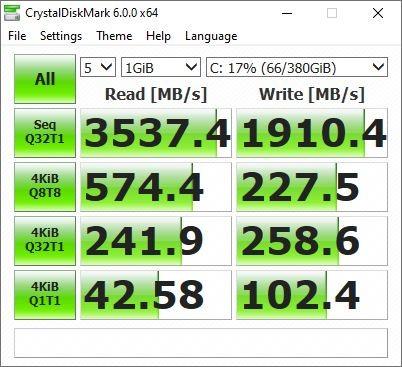 ASUS ExpertBook B9 B9450 - CrystalDiskMark